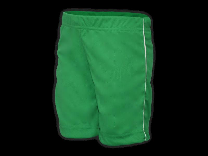 Bermuda Helanca verde bandeira perfil