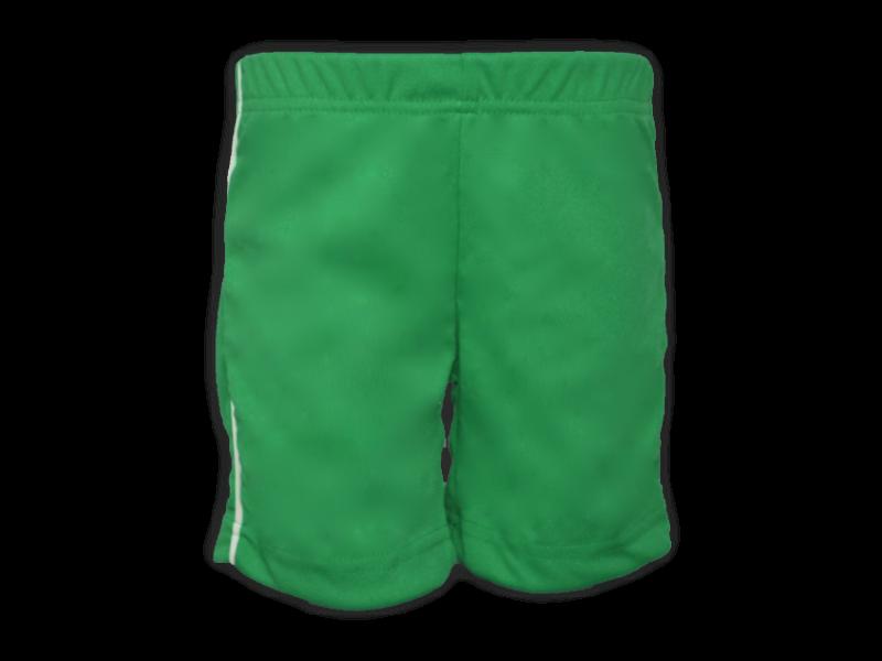 Bermuda Helanca verde bandeira frente