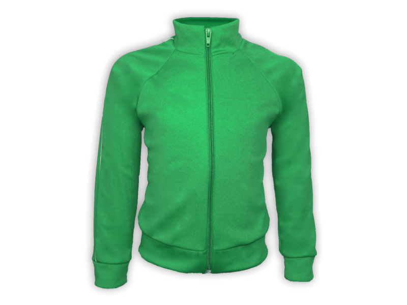 Blusa Helanca Verde Bandeira - Frente