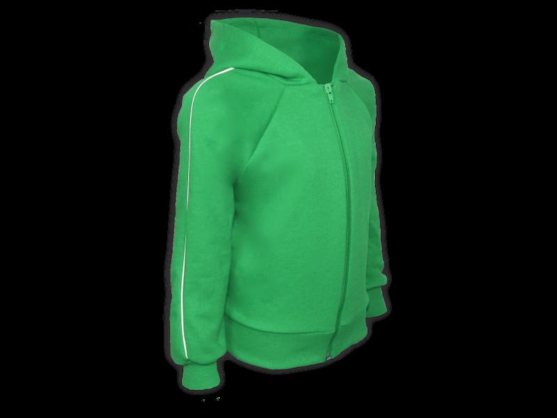 perfil blusa de moletom verde bandeira tamanho infantil