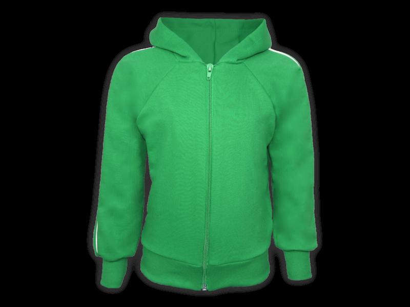 frente blusa de moletom verde bandeira tamanho infantil