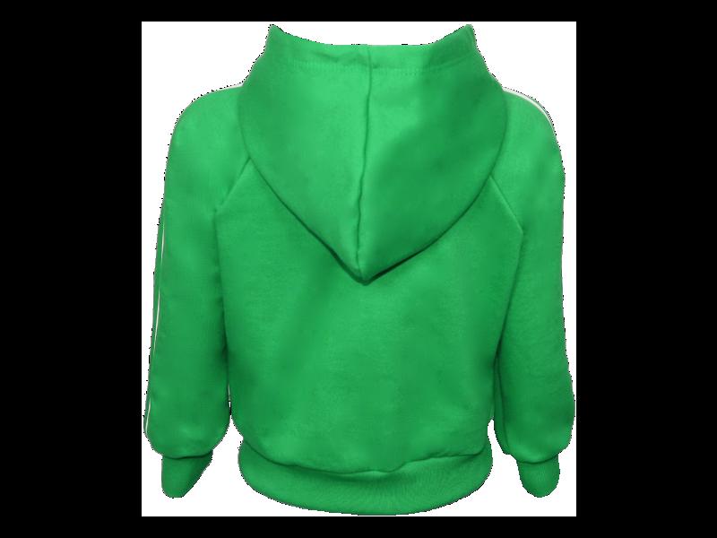 costa blusa de moletom verde bandeira tamanho infantil