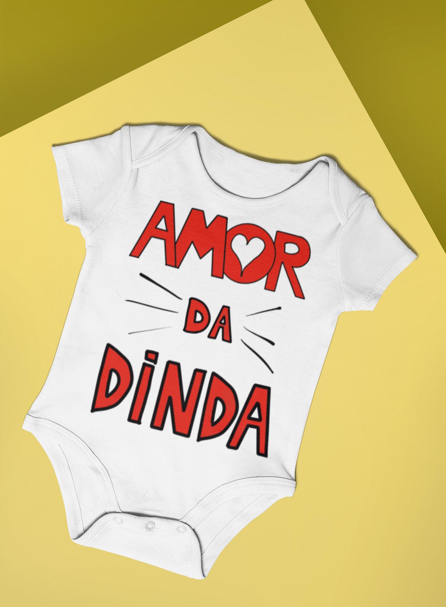 Body Bebê Infantil Amor da Dinda 1