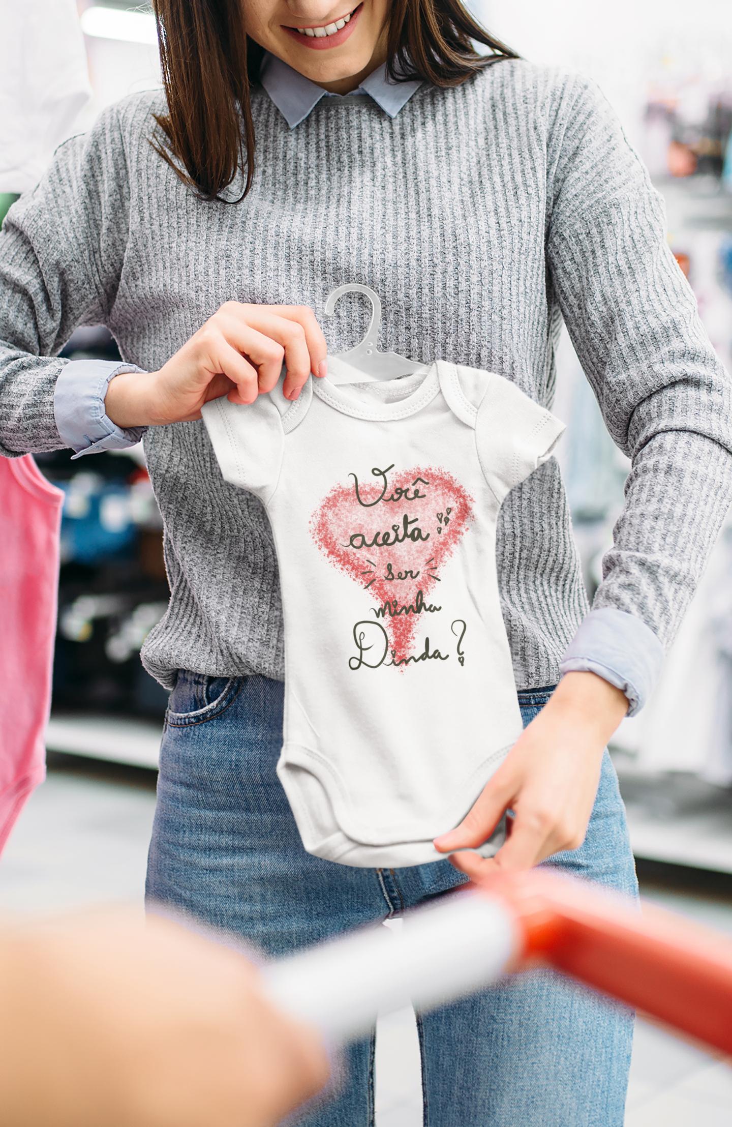 Body Bebê Infantil Você Aceita Ser Minha Dinda 1