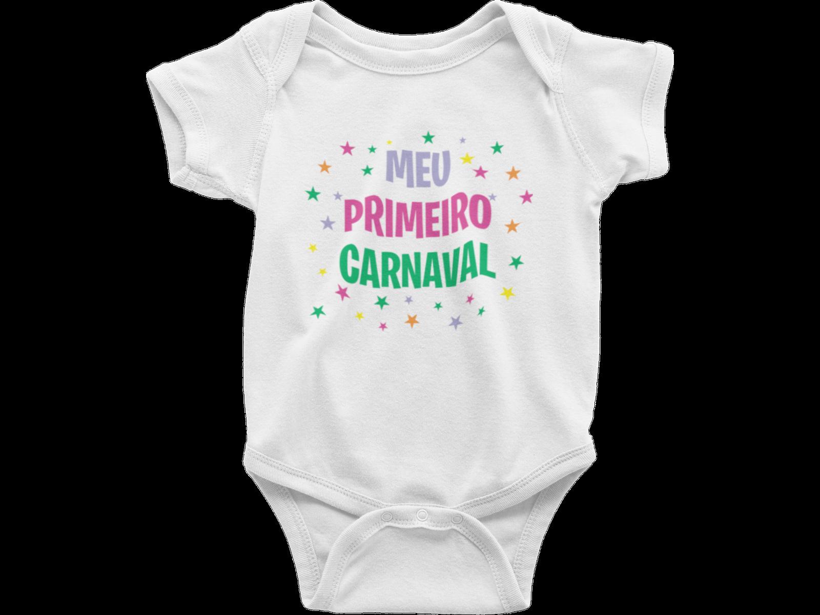 Body Bebê Mesversário - Fantasia Infantil - Meu Primeiro Carnaval