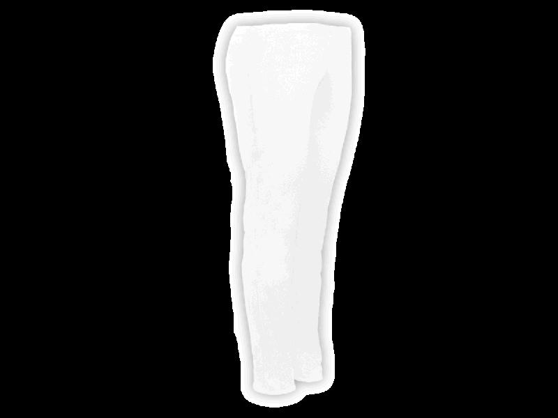 Calça Bailarina Branca - Perfil