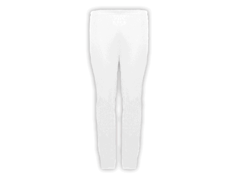 Calça Bailarina Branca - Frente
