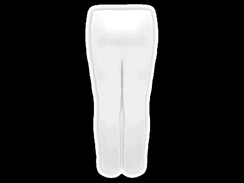 Calça Bailarina Branca - Costas