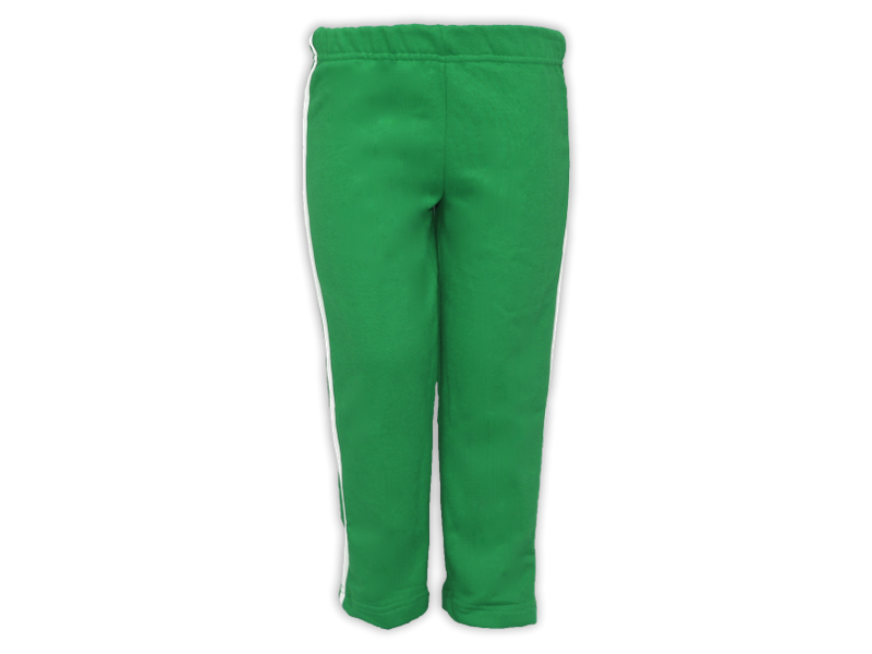 Foto de frente calça de moletom verde bandeira tamanho infantil