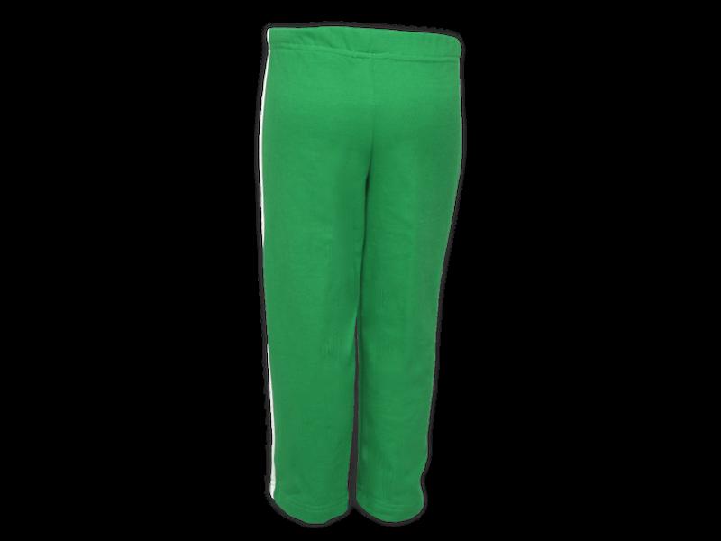 Foto de costa calça de moletom verde bandeira tamanho infantil