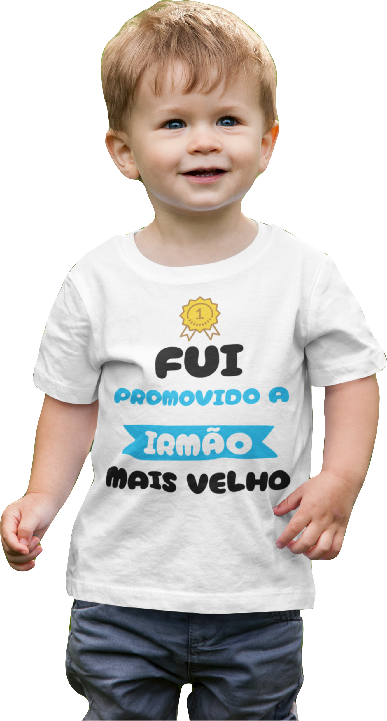 Camiseta Fui Promovido a Irmão Mais Velho Infantil Capa