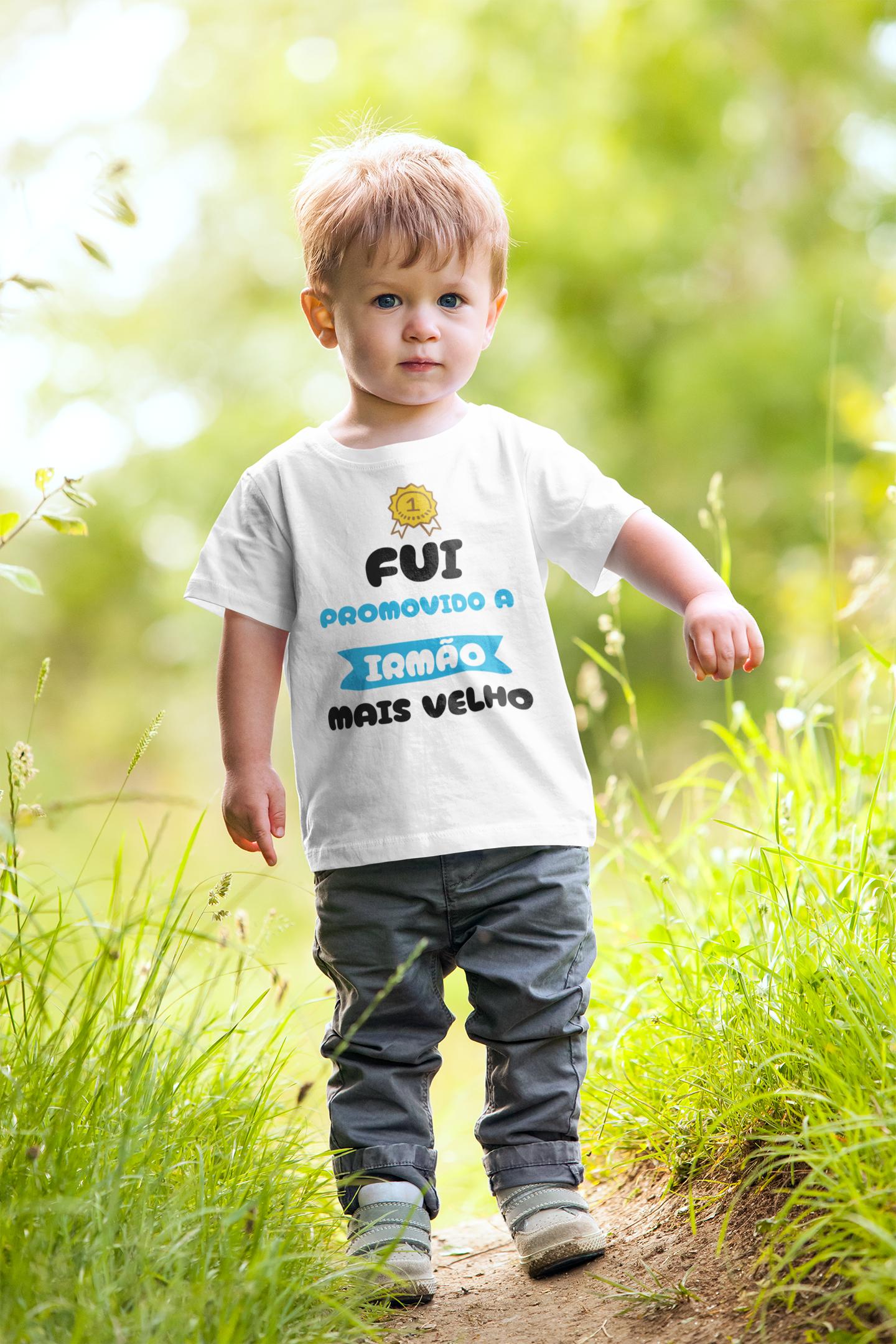 Camiseta Fui Promovido a Irmão Mais Velho Infantil 2