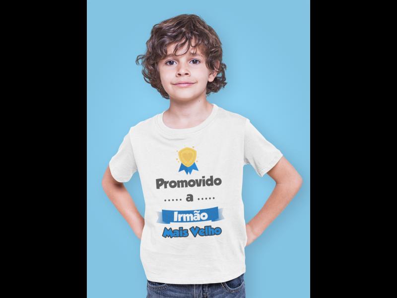 Camiseta Infantil Promovido a Irmão Mais Velho