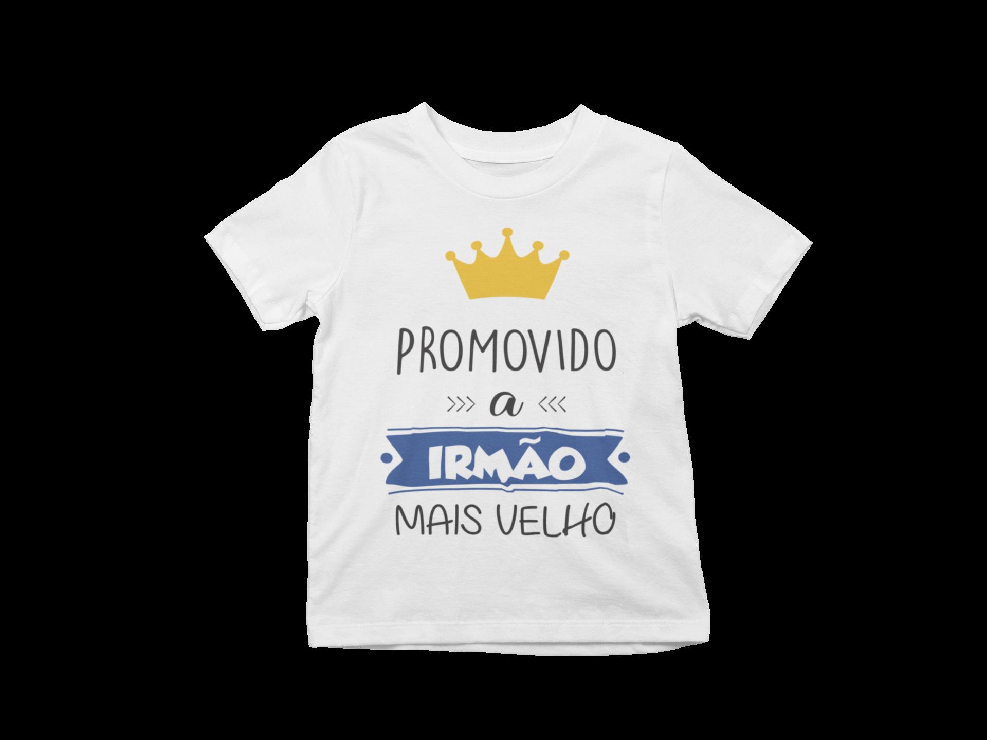Camiseta Promovido a Irmão Mais Velho algodão Infantil capa