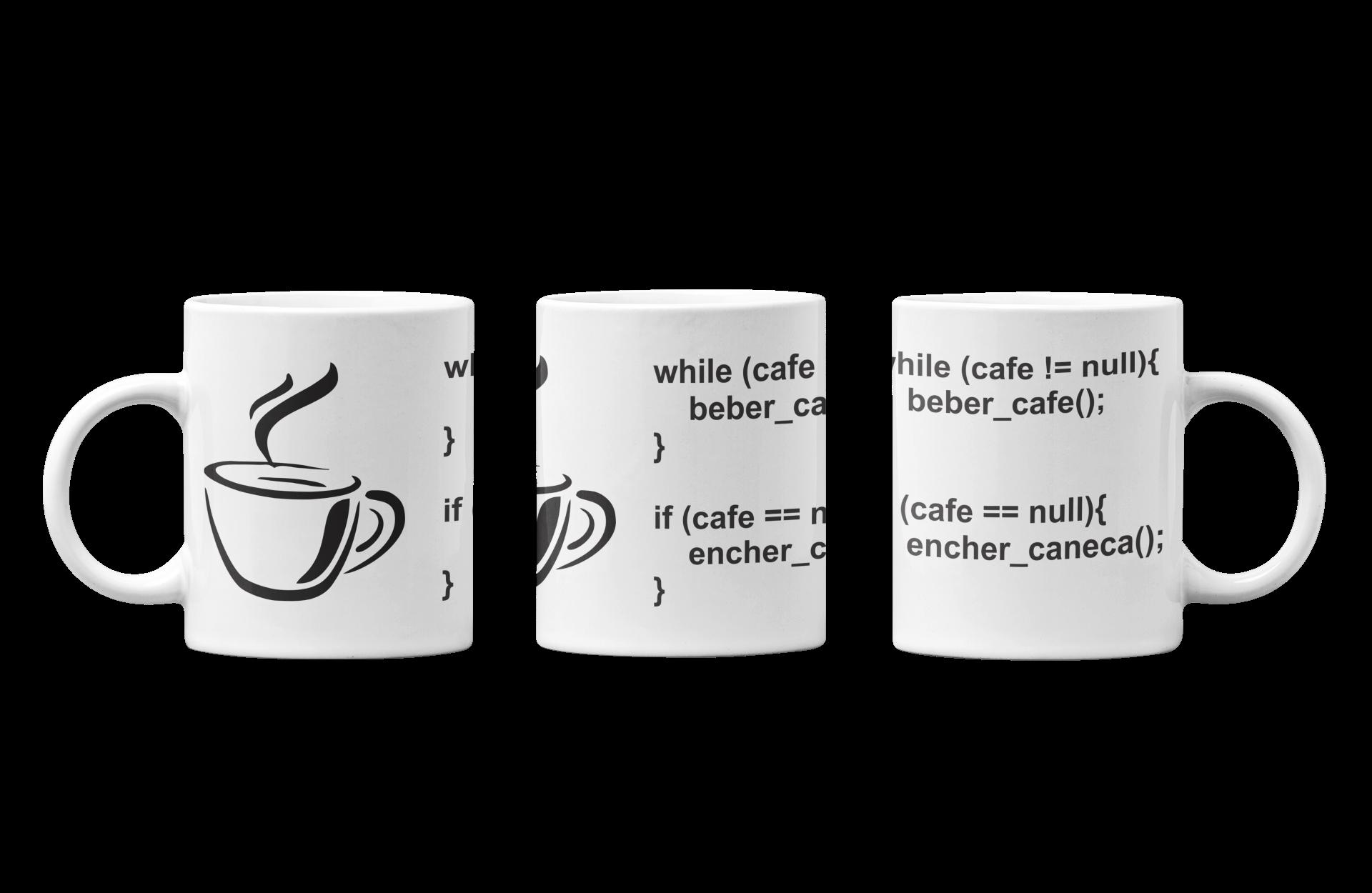 Caneca Programador TI Java programação café Capa