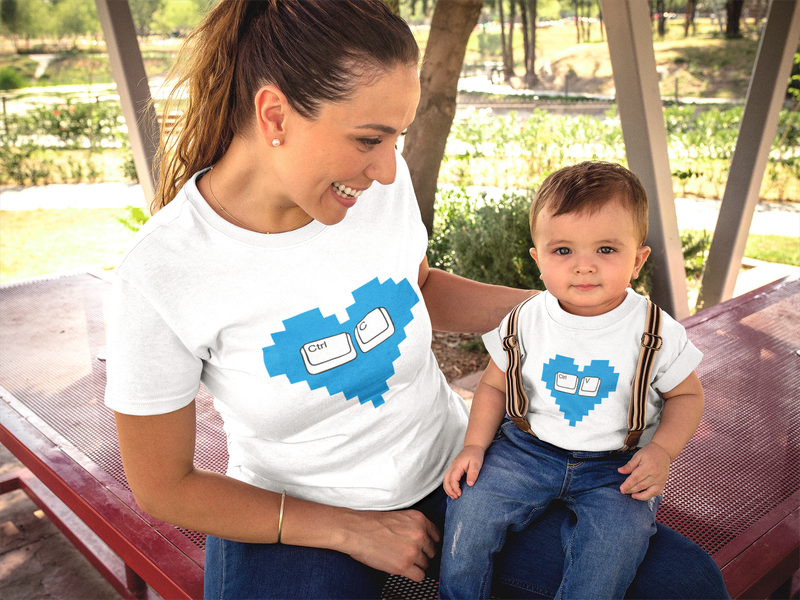 Conjunto de Camisetas Mãe e Filha Crtl C Crtl V