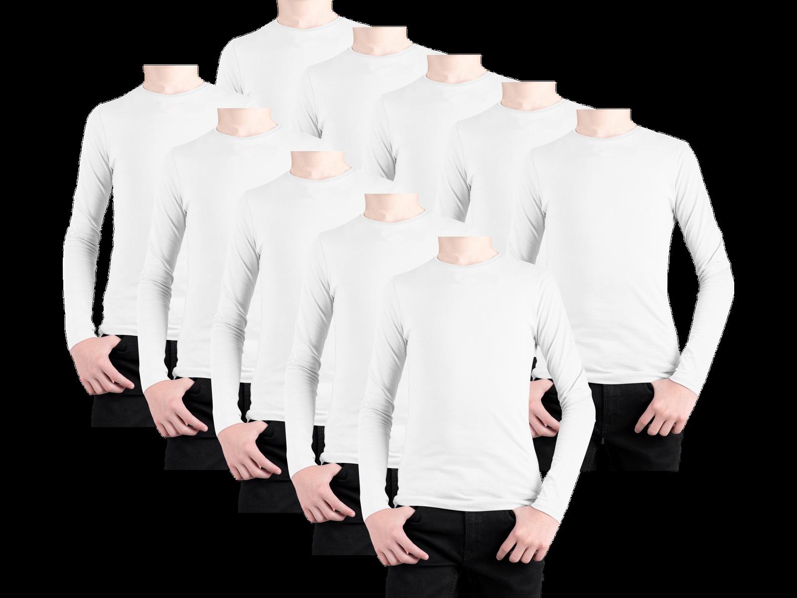 Kit 10 Camisetas Lisa Manga Longa Infantil Poliéster