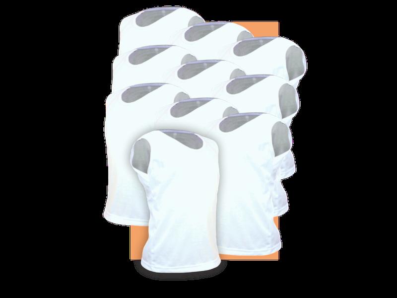 Kit 10 Camisetas Regata Infantil Algodão