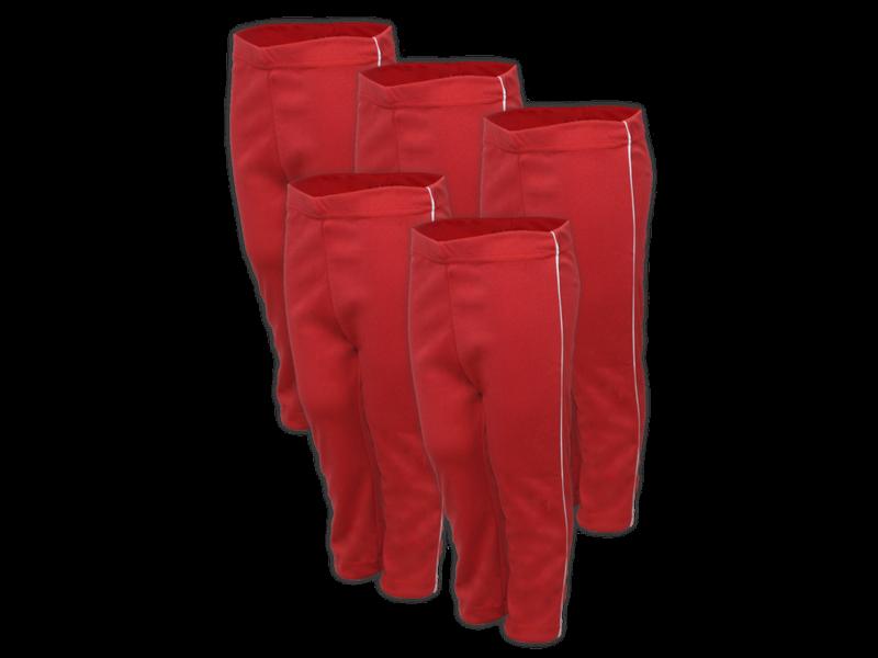 kit 5 calça vermelho