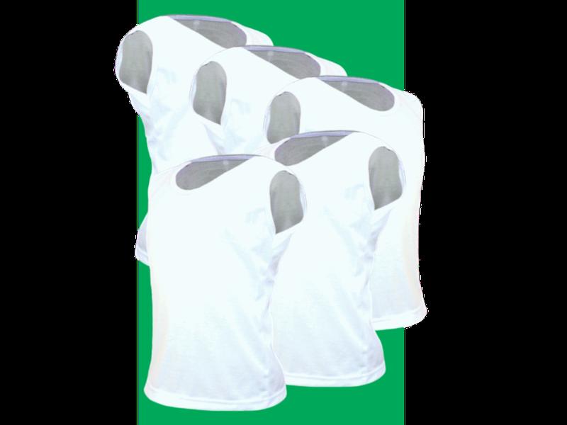 Kit 5 Camisetas Regata Infantil Algodão