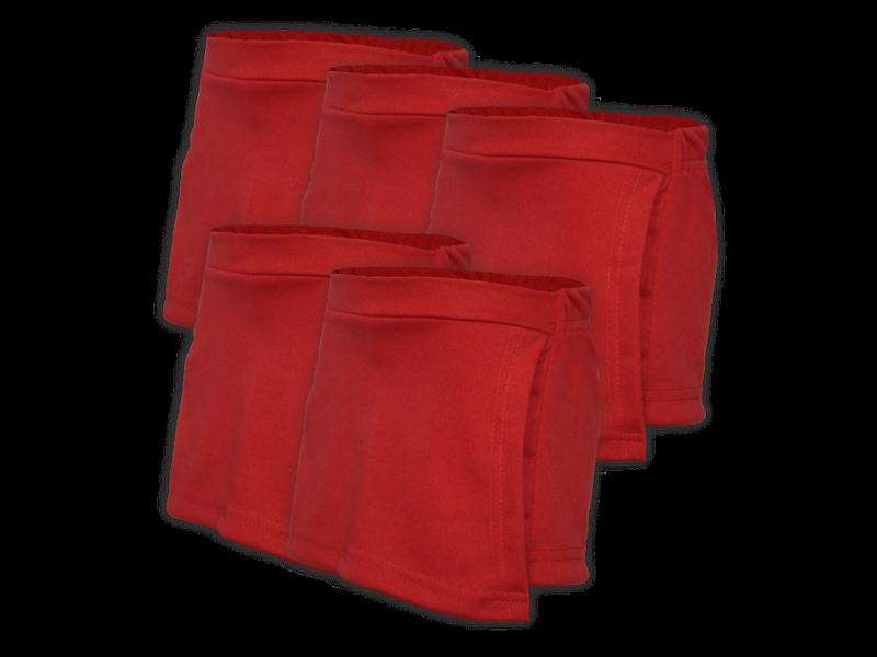kit 5 short saia vermelho
