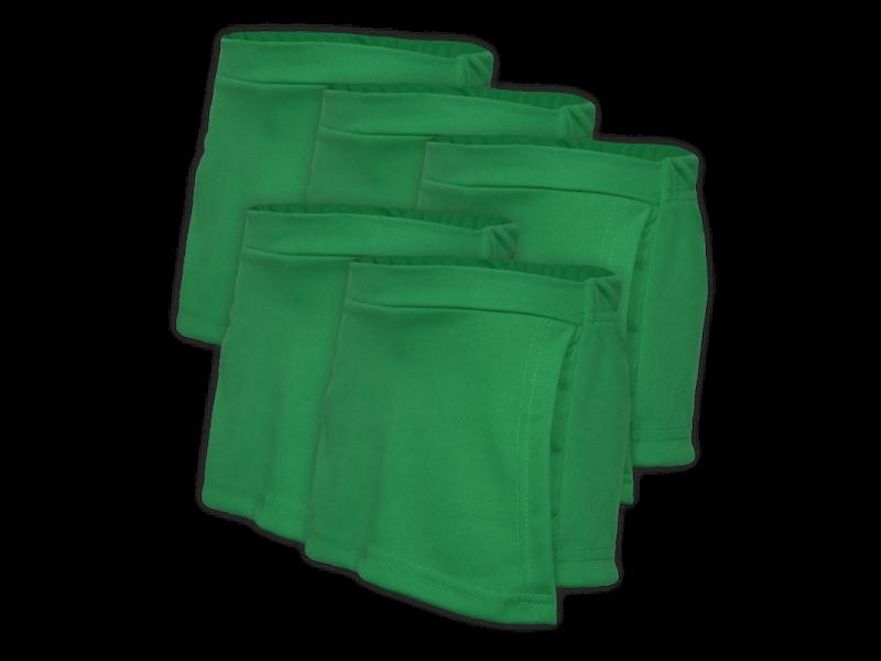 kit 5 short saia verde bandeira