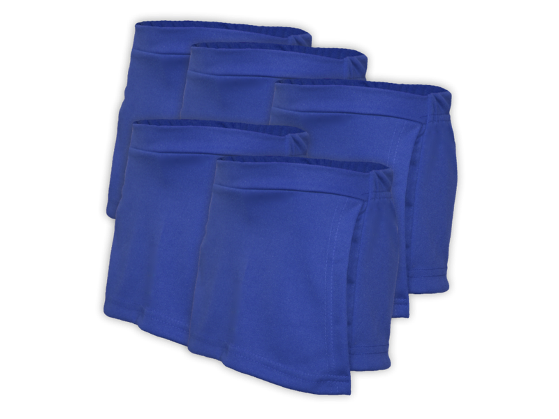 kit 5 short saia azul royal