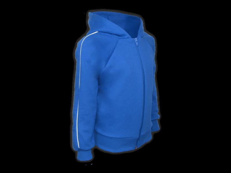 perfil blusa de moletom azul royal tamanho juvenil