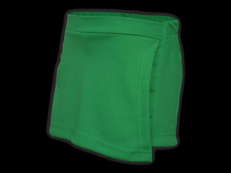 Short saia verde bandeira perfil