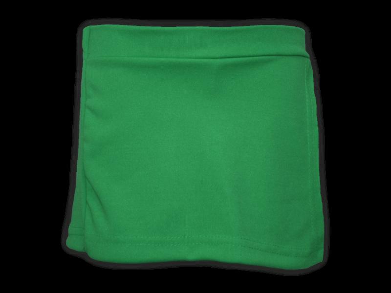 Short saia verde bandeira frente