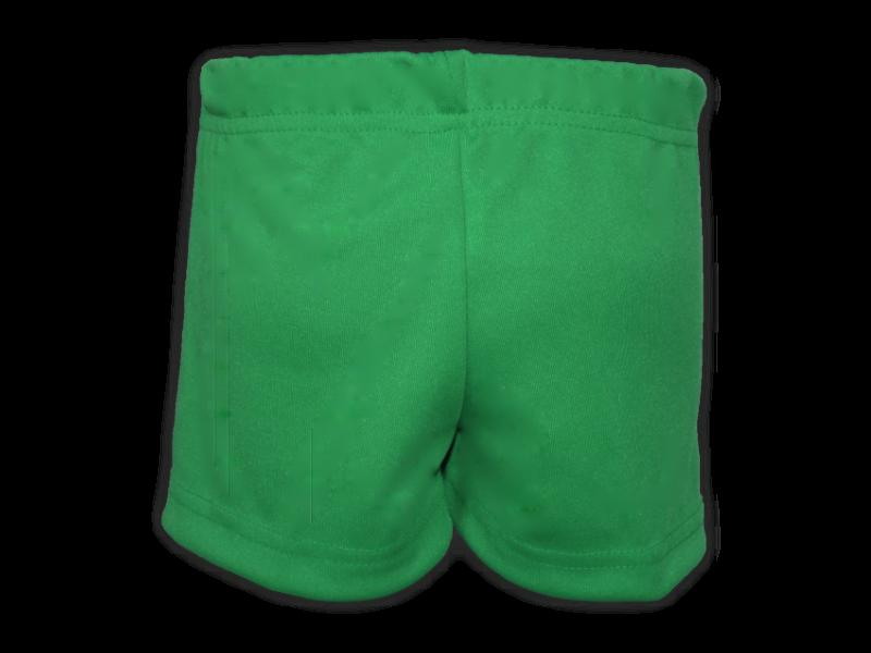 Short saia verde bandeira trás