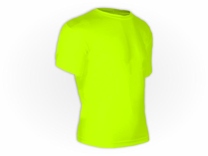 Camiseta dry fit amarelo fluor perfil