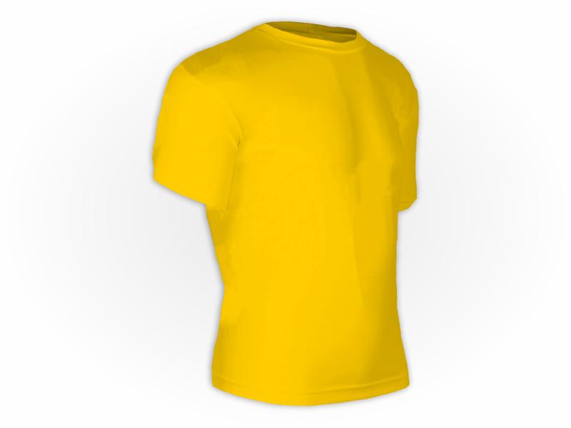 Camiseta dry fit amarelo ouro perfil