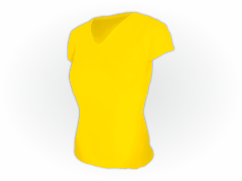 Baby look dry fit amarelo ouro perfil