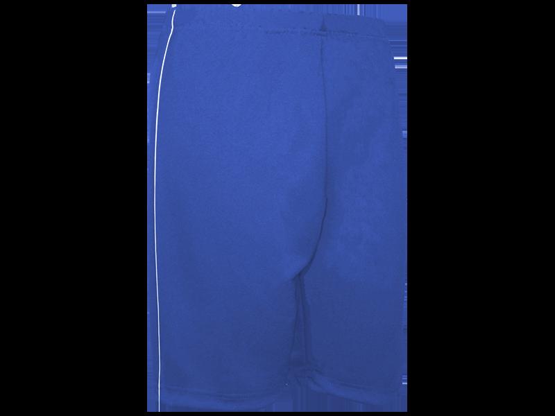 Bermuda Helanca azul royal perfil