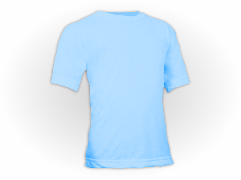 Camiseta azul bebe perfil