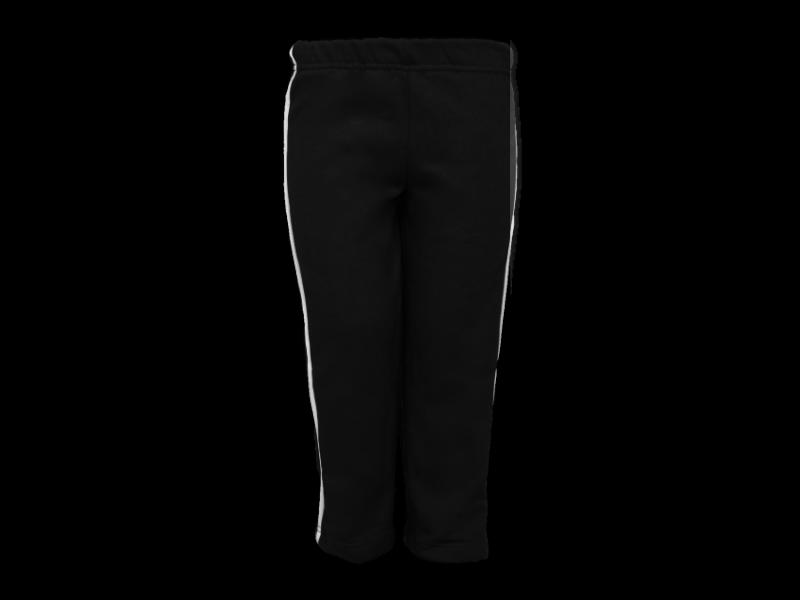 Foto de frente calça de moletom preta tamanho infantil