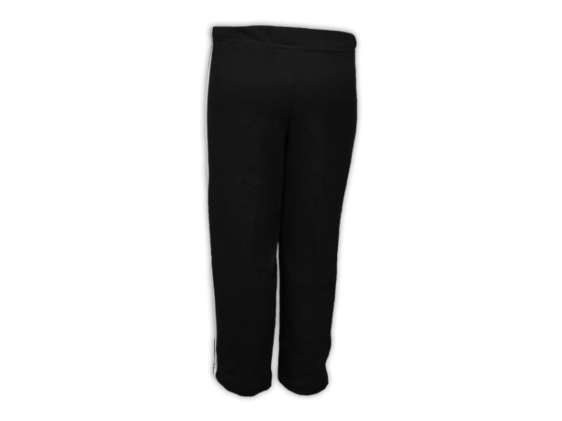 Foto de trás calça de moletom preta tamanho juvenil