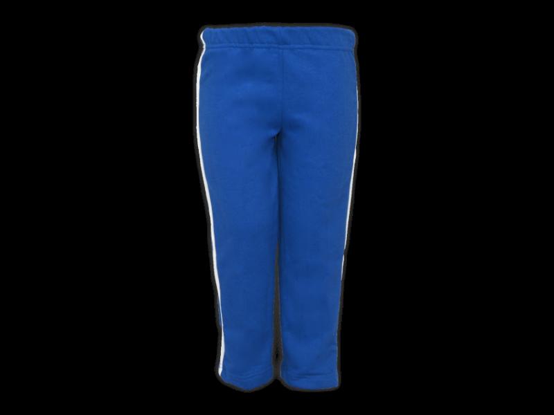Foto de frente calça de moletom azul royal tamanho infantil
