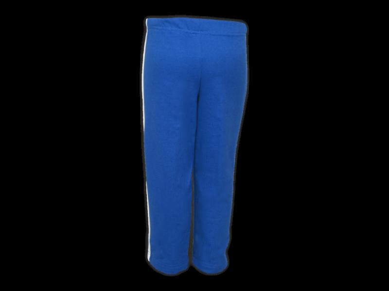 Foto de trás calça de moletom azul royal tamanho infantil