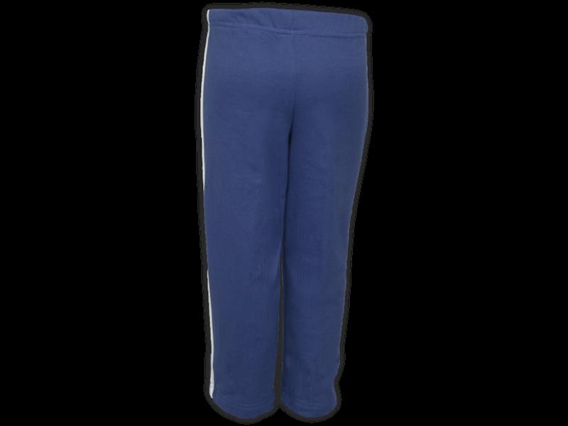 Foto de trás calça de moletom azul marinho tamanho infantil