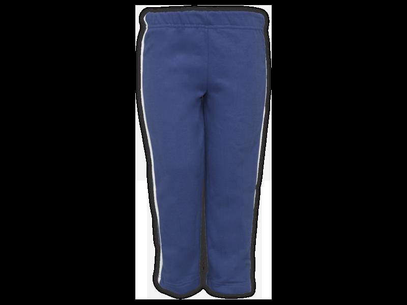 Foto de frente calça de moletom azul marinho tamanho infantil