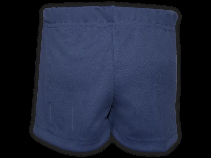 Short saia azul marinho trás