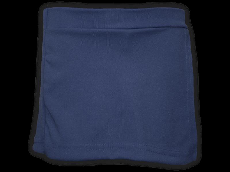 Short saia azul marinho frente