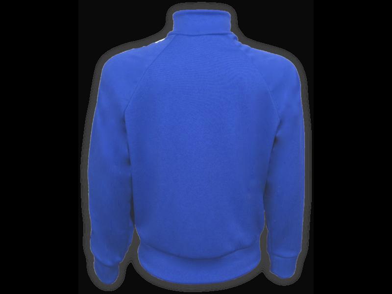 trás blusa helanca azul royal tamanho infantil