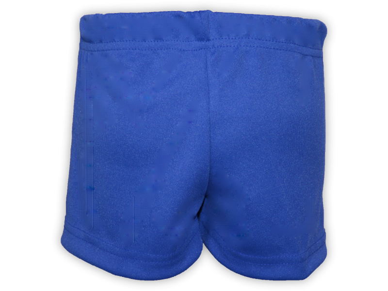 Short saia azul royal trás
