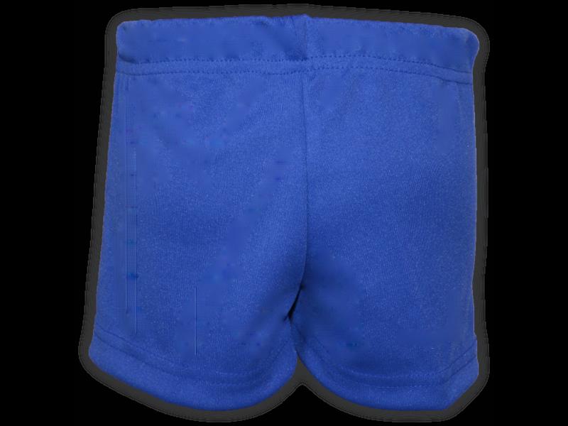 Short saia azul royal trás