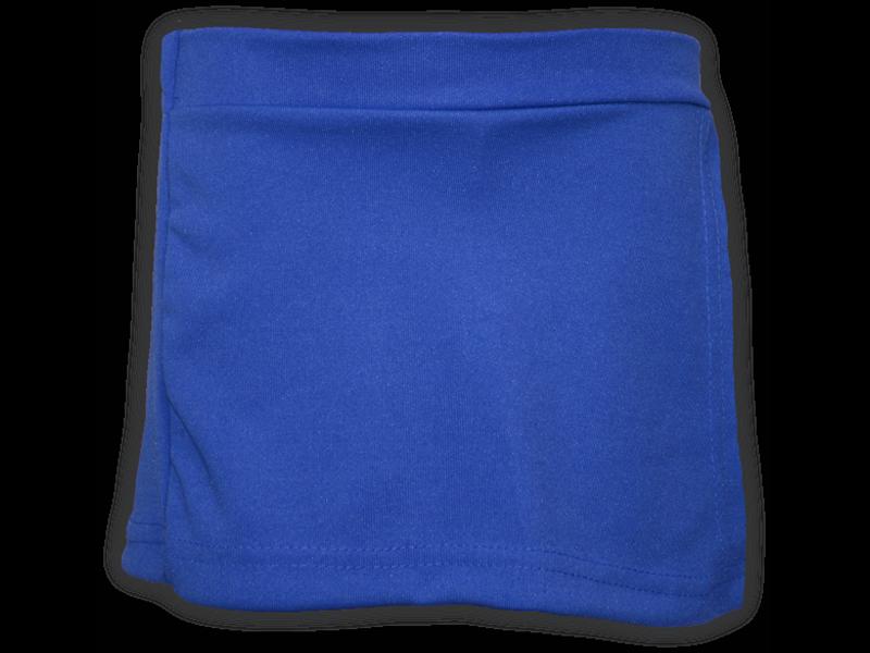 Short saia azul royal frente