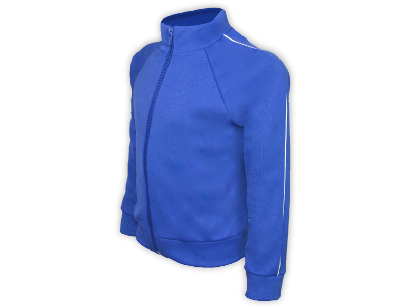 perfil blusa helanca azul royal tamanho infantil