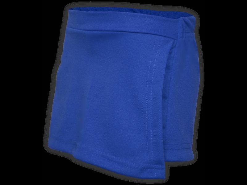 Short saia azul royal perfil